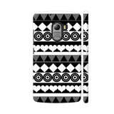 Black And White Aztec Pattern Lenovo K4 Note Cover | Artist: Sangeetha