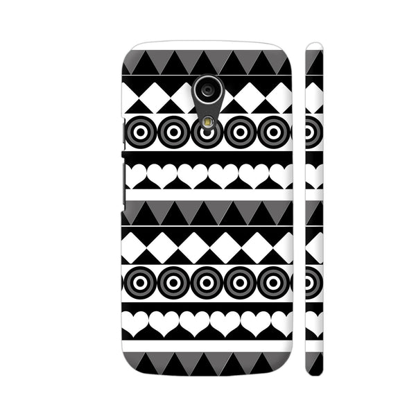 Black And White Aztec Pattern Moto G2 Cover | Artist: Sangeetha