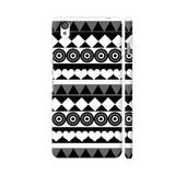 Black And White Aztec Pattern OnePlus X Cover | Artist: Sangeetha