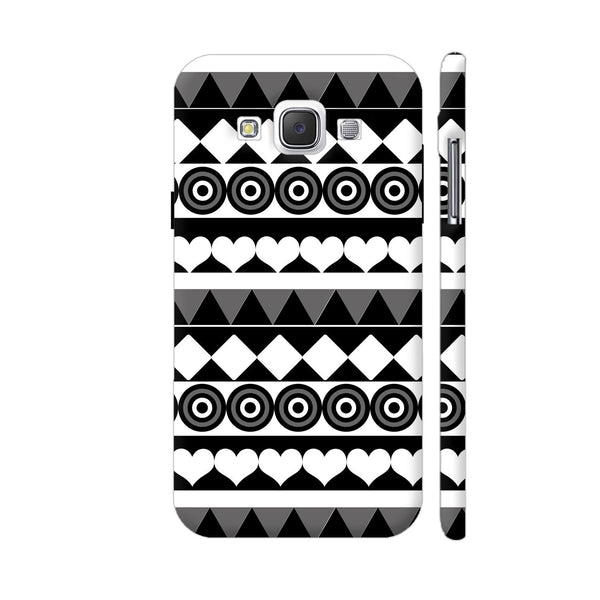 Black And White Aztec Pattern Samsung Galaxy E5 Case