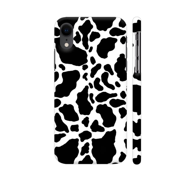 Black And White Cow Skin Pattern iPhone XR Cover | Artist: Looly Elzayat