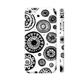 Black And White Earthen Circles iPhone 5 / 5s Cover | Artist: Pritpal Singh