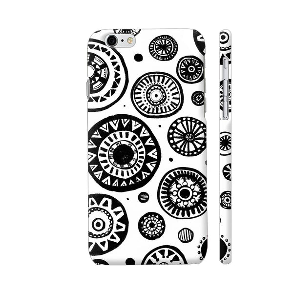 Black And White Earthen Circles iPhone 6 Plus / 6s Plus Cover | Artist: Pritpal Singh