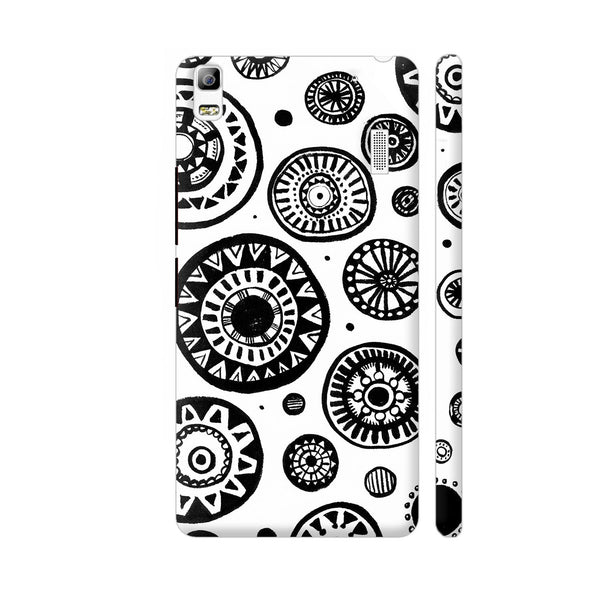 Black And White Earthen Circles Lenovo K3 Note Cover | Artist: Pritpal Singh