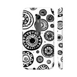 Black And White Earthen Circles Moto G3 Cover | Artist: Pritpal Singh