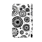 Black And White Earthen Circles Samsung Galaxy E5 Case