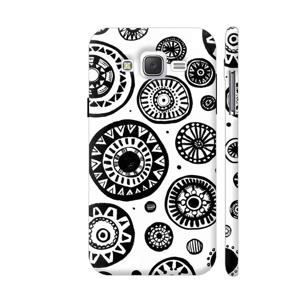 Black And White Earthen Circles Samsung Galaxy J5 Case