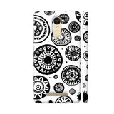 Black And White Earthen Circles Redmi Note 3 Cover | Artist: Pritpal Singh