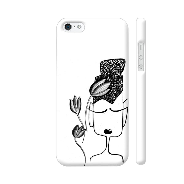 Black And White Modern Buddha iPhone 5 / 5s Cover | Artist: Woodle Doodle