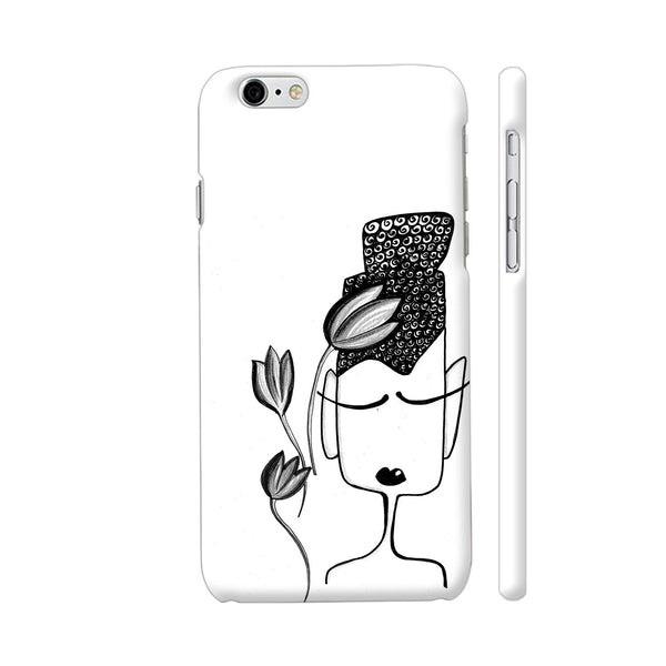 Black And White Modern Buddha iPhone 6 Plus / 6s Plus Cover | Artist: Woodle Doodle