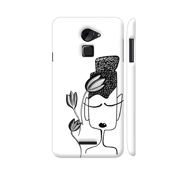 Black And White Modern Buddha Coolpad Note 3 Lite Cover | Artist: Woodle Doodle