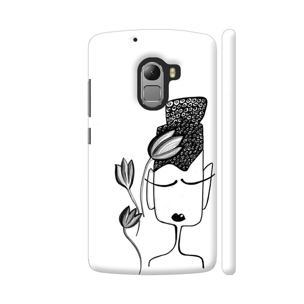 Black And White Modern Buddha Lenovo K4 Note Cover | Artist: Woodle Doodle