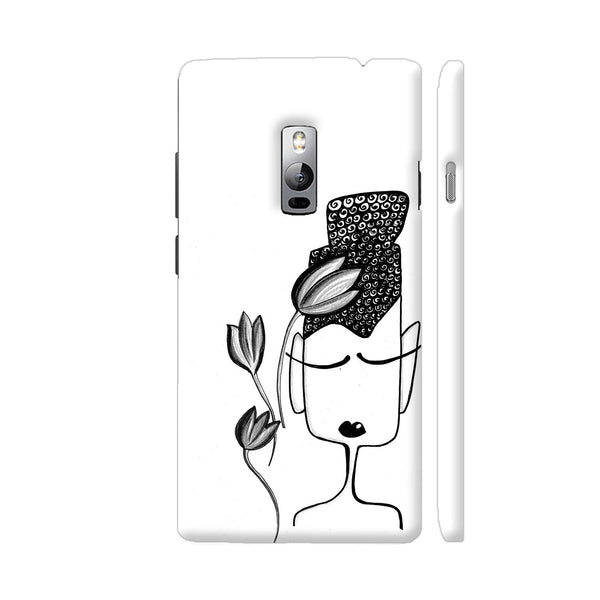 Black And White Modern Buddha OnePlus 2 Cover | Artist: Woodle Doodle
