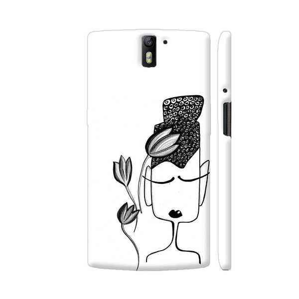 Black And White Modern Buddha OnePlus One Cover | Artist: Woodle Doodle