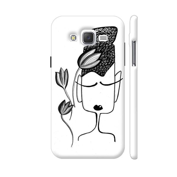 Black And White Modern Buddha Samsung Galaxy J5 Case