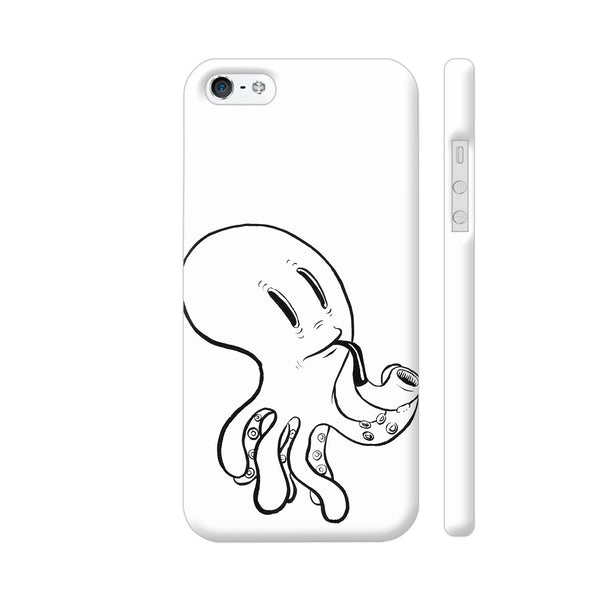 Black And White Octopus iPhone SE Cover | Artist: Pritpal Singh