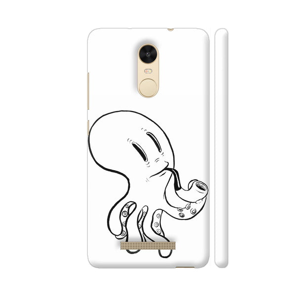Black And White Octopus Redmi Note 3 Cover | Artist: Pritpal Singh