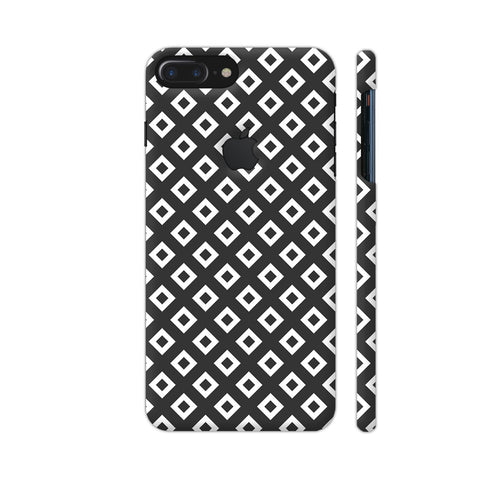 Black And White Square Diagonal Love iPhone 7 Plus Logo Cut Cover | Artist: Adeela Abdul Razak