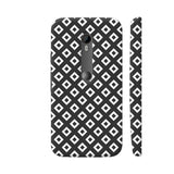 Black And White Square Diagonal Love Moto G3 Cover | Artist: Adeela Abdul Razak
