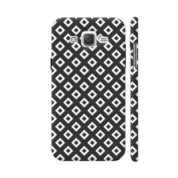 Black And White Square Diagonal Love Samsung Galaxy J2 (Old) Cover | Artist: Adeela Abdul Razak