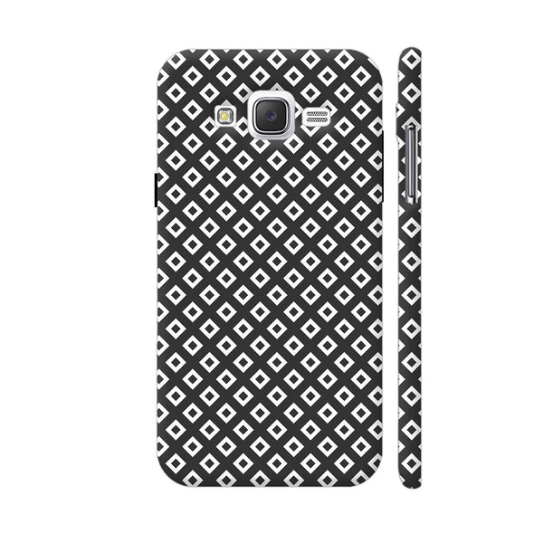 Black And White Square Diagonal Love Samsung Galaxy J5 Case