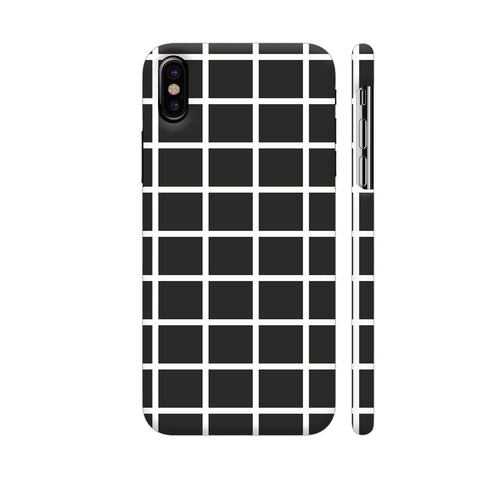 Black Checkers iPhone X Cover | Artist: Mita