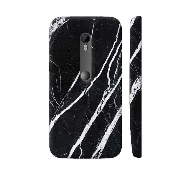 Black Marble Moto G Turbo Cover | Artist: Abhinav