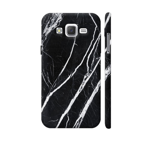 Black Marble Samsung Galaxy J5 Case