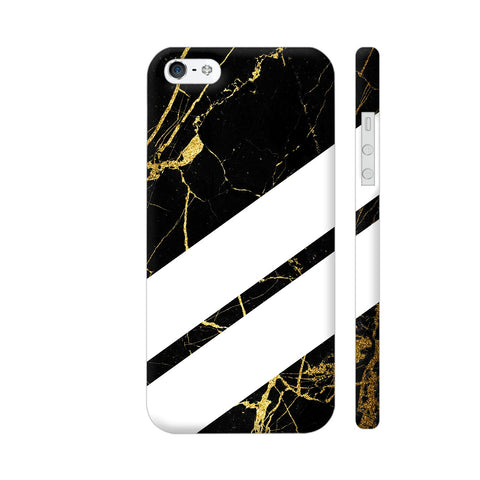 Black Marble Wide Stripes iPhone 5 / 5s Cover | Artist: VSeraphim