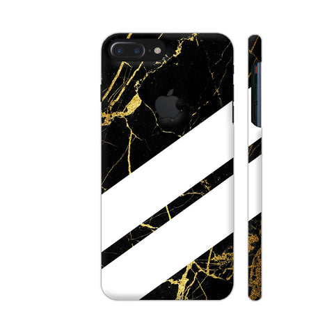 Black Marble Wide Stripes iPhone 7 Plus Logo Cut Cover | Artist: VSeraphim