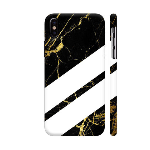 Black Marble Wide Stripes iPhone X Cover | Artist: VSeraphim