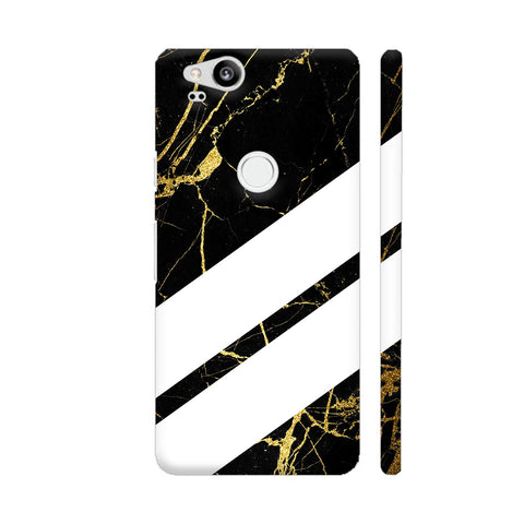 Black Marble Wide Stripes Google Pixel 2 Cover | Artist: VSeraphim