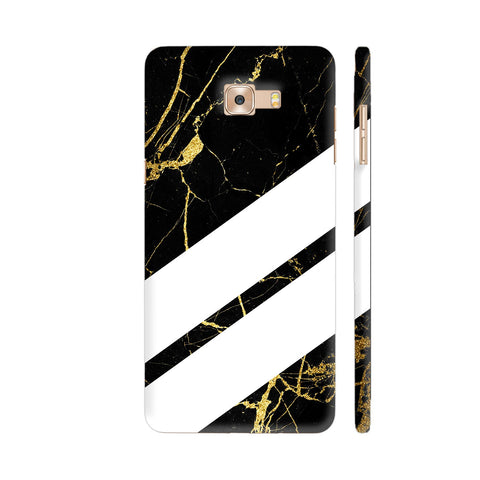 Black Marble Wide Stripes Samsung C9 Pro Cover | Artist: VSeraphim