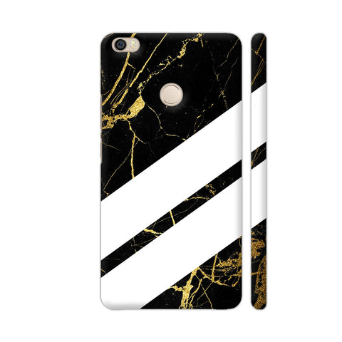 Black Marble Wide Stripes Xiaomi Mi Max Cover | Artist: VSeraphim