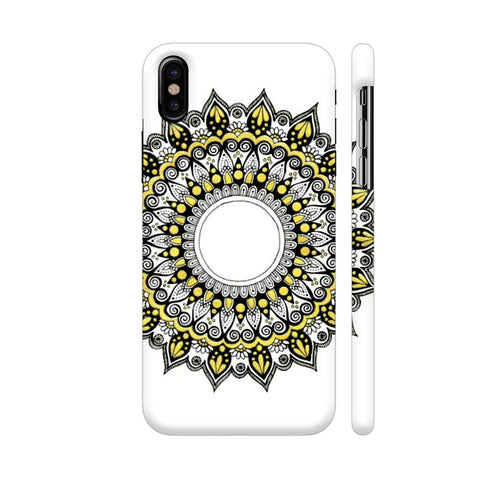 Black N Gold Mandala iPhone X Cover | Artist: Designs by Gulmohar