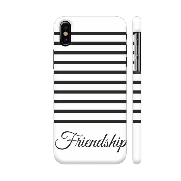 Black Strips Friendship iPhone X Cover | Artist: Mita