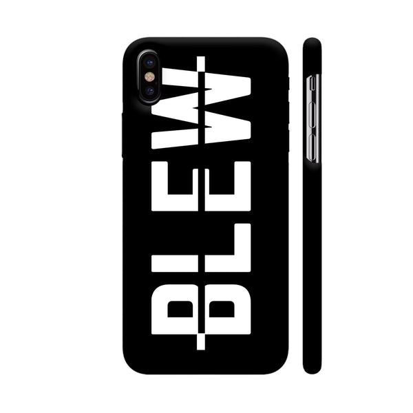 Blew On Black iPhone X Cover | Artist: Malls