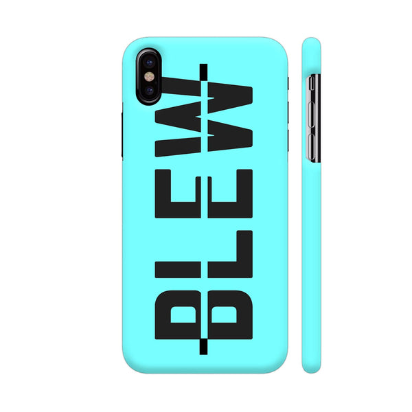 Blew On Blue iPhone X Cover | Artist: Malls