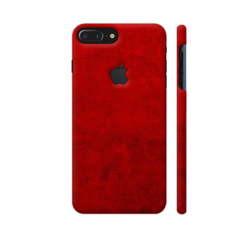 Blood Red Texture Print iPhone 7 Plus Logo Cut Cover | Artist: KARAN
