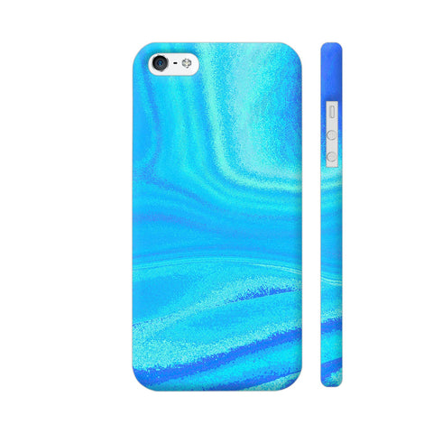 Blue Abstract Waves iPhone 5 / 5s Cover | Artist: Looly Elzayat