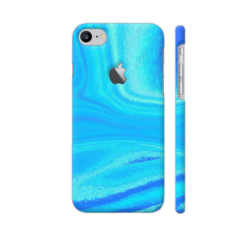 Blue Abstract Waves iPhone 8 Logo Cut Cover | Artist: Looly Elzayat