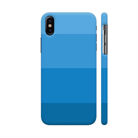 Blue Block Shades iPhone X Cover | Artist: Astha