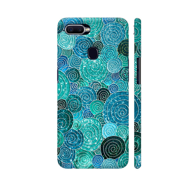 Blue Circles And Dots Oppo F9 Pro Cover | Artist: UtART