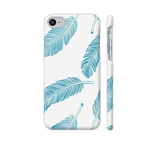 Blue Feathers On White Apple iPhone 7 Case