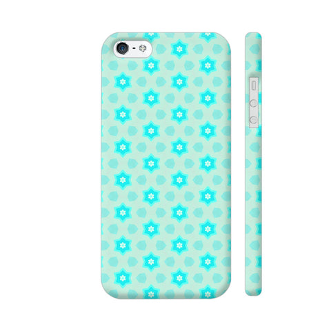 Blue Floral Pattern 3 iPhone SE Cover | Artist: Malls