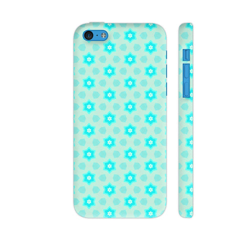 Blue Floral Pattern 3 iPhone 5c Cover | Artist: Malls