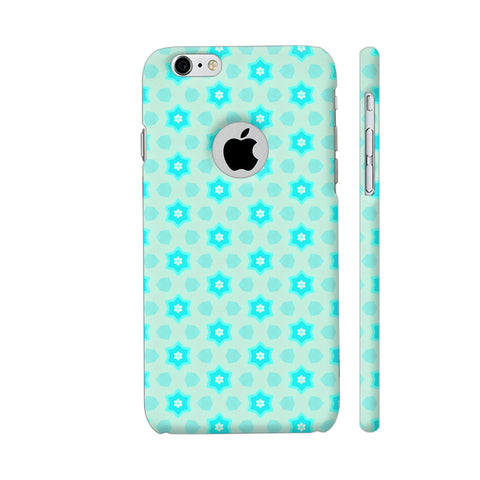Blue Floral Pattern 3 iPhone 6 / 6s Logo Cut Cover | Artist: Malls
