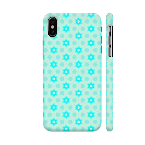 Blue Floral Pattern 3 iPhone X Cover | Artist: Malls