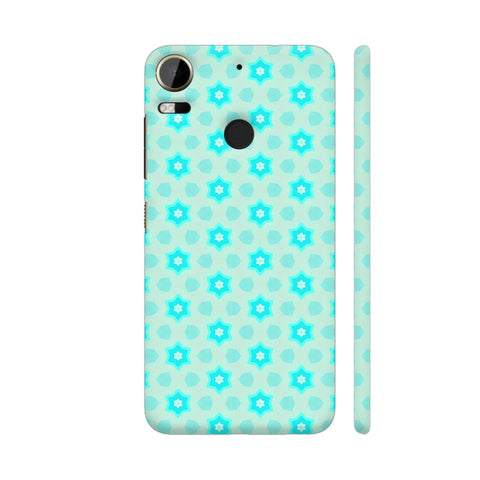 Blue Floral Pattern 3 HTC Desire 10 Pro Cover | Artist: Malls
