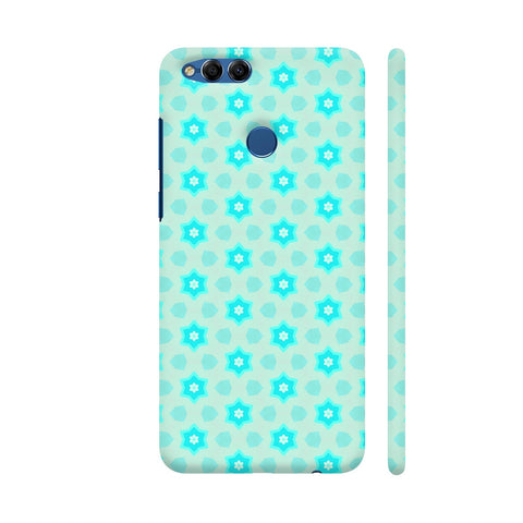 Blue Floral Pattern 3 Honor 7X Cover | Artist: Malls